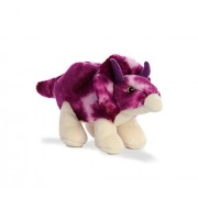 Aurora World Plush Dinosaur Triceratops, Purple, Small