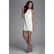 Off White Halter Neck Romantic Rose Dress