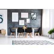 Milani Home MARGOT - sedia moderna imbottita con gambe in legno