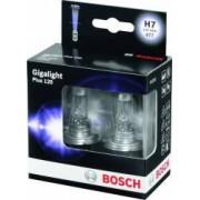 Set 2 becuri auto cu halogen pentru far Bosch H7 12V 55W Xenon Silver