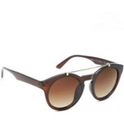 Daniel Klein Round Sunglasses(Brown)