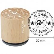 Woodies Trästämpel, dia. 30 mm, H: 35 mm, 1 st.