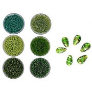 eshoppee 8/0 glass Seed beads for jewellery making art craft diy kit Set of 6 Colors 20Gm X 6 colors