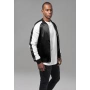 Мъжко тънко яке URBAN CLASSICS в черно-бял цвят