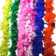 Fun central (BC712) Rainbow Feather BOA - 6ft Assorted - 60g