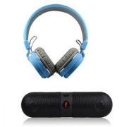 VINIMOX COMBO OFFER SH12 HEADPHONE With Pill BT Speaker Over Ear Wireless Headphones With Mic