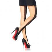 LEG AVENUE PANTIES DE RED INDUSTRIAL DOBLE TONO AMARILLO Y NEGRO U