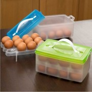 House of Quirk Plastic Egg Storage Container Green (24 Pieces)