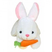 White Rabbit with Carrot Stuffed Soft Plush Toy 26 cm