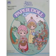 Golden Precious Moments Paper Doll Book Uncut W 2 Dolls, 5 Play Pieces & More! (1992)
