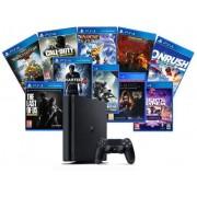 Consola Sony PlayStation 4 Slim 1TB Extra Bundle Hits (Negru)