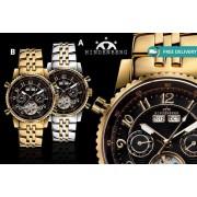 Men's Hindenberg 'Gold Edition' Air Professional Watch – 4 Designs!