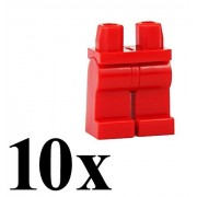 LEGO 10 pcs RED MINIFIGURE LEGS ASSEMBLY Minifig Figure People Town City Space Pants Part Piece