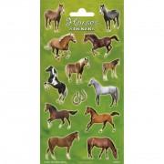 Merkloos Grote paarden stickers
