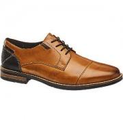 Am shoe Bruine leren geklede schoen vetersluiting AM shoe maat 40