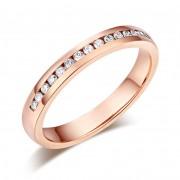Inel Borealy Aur Roz 14 K Natural Diamonds Semi Eternity