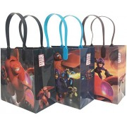 "Disney Big Hero 6 Premium Quality Party Favor Goodie Medium 8"" Gift Bags 12 (12 Bags)"