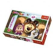 Puzzle Trefl, Masha and the Bear, O zi fericita, 60 piese