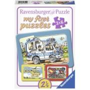 Primul Meu Puzzle Politie, Pompieri, 3X6 Piese Ravensburger