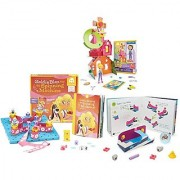 Maven Gifts: GoldieBlox Golden Package - Goldie's Crankin' Clubhouse Set with The Spinning Machine Build-Along Book Set - GET GoldieBlox Lucky's High Roller Carnival Game Set FOR FREE!