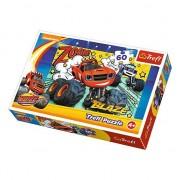 Puzzle Trefl, masinuta Blaze and the Monster Machines 60 piese