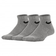 Nike Performance Cushioned Quarter Kinder-Trainingssocken (3 Paar) - Grau