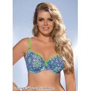 Bikinitopp med färgglatt mönster