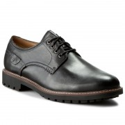 Обувки CLARKS - Montacute Hall 203510847 Black Leather
