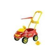 Baby Car Carro Passeio Vermelho Com Acessórios Homeplay
