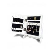 Jocca Espejo organizador de joyas con separadores blanco UNI