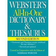 Webster's All-In-One Dictionary & Thesaurus, Second Edition, Hardcover/Inc. Merriam-Webster