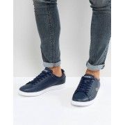 Lacoste Carnaby Evo Leather Trainers - Navy