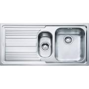 Chiuveta Franke Logica Line 101.0086.254 LLL 651, 1000 x 500mm (margine slim, sifon inclus), Picurator stanga, 2 cuve, Inox dekor