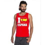 Bellatio Decorations Rood I love Spanje fan singlet shirt/ tanktop heren