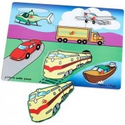 My First Wooden Transportation 6-piece Peg Puzzle
