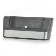 2-en-1 bateria / Cell Phone cargador soporte w / USB / Micro USB OTG puerto para LG G3 - negro + gris