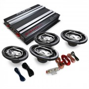 Auna Equipo sonido 4.0 para coche Platin Line 4202400W
