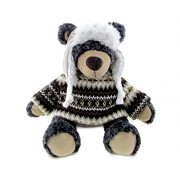 Puzzled Black Bear Soft Stuffed Plush Cuddly Animal Toy - Wild Animals / Collection Unique Huggable Loveable New Friend Gift (5770)