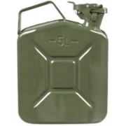 AutoTrends Metal Fuel Jerry Gerry Can Petrol Diesel Liquid Tank Army Green 5L Litre 5000 ml Water Bag(Pack of 1, Multicolor)