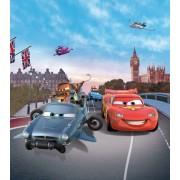 Fototapet Disney Cars la Big Ben Londra - 180x202 cm (pe comanda 2 sapt)