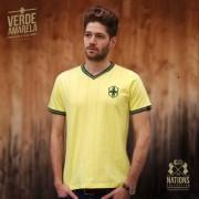 The Nations Collection Vintage Fussball Trikot Herren Brasilien M