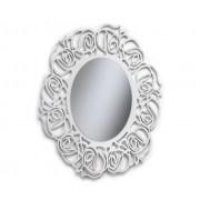 Art.520 Specchiera rotonda bianca