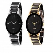 IIK Collection True Colors Stylish Casual Watches For Mens- Combo of 2