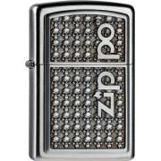 Zapalovač ZIPPO 20393 Logo with Skulls