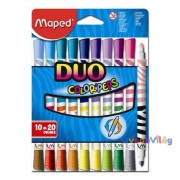 """Filctoll készlet 10db-os MAPED """"Color Peps Duo"""" mosható, kétvégű"""