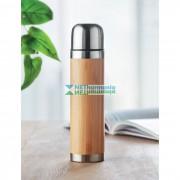 Duplafalú rozsdamentes acél termoszpalack bambusz borítással