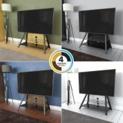 AVF Options Easel TV Stand with Mount with 4 Color Options In Box