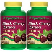 Piping Rock Black Cherry 1400 mg 2 Bottles x 120 Quick Release Capsules Dietary Supplement