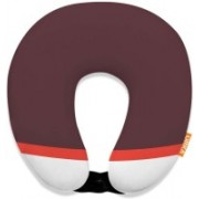 ORKA Digital Printed Spandex With Micro Beads U Neck Pillow(Rosy Brown And White)