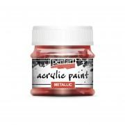 Pentart Metál bordó színű akril bázisú hobbi festék 50 ml